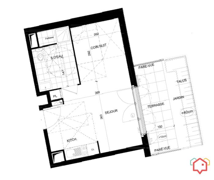 argenteuil studio meubl de particulier particulier. Black Bedroom Furniture Sets. Home Design Ideas